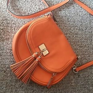 Orange Aldo Saddle Crossbody Purse